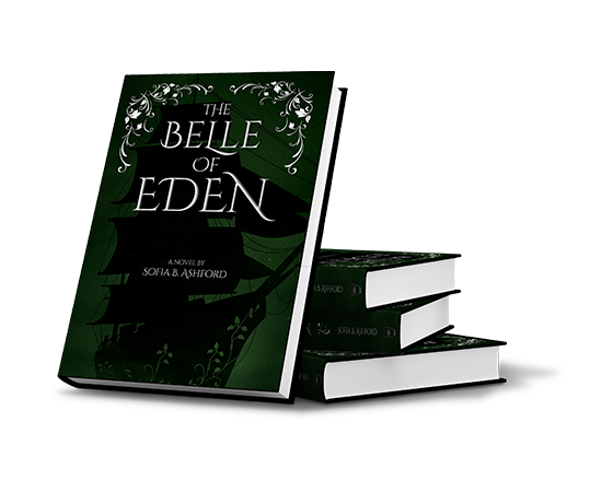 """Several copies of """"The Belle of Eden"""" stacked against each other."""